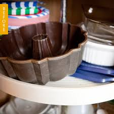 how to organize a lazy susan cabinet before after a smart solution for a corner cabinet lazy