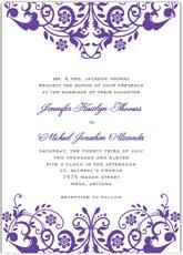 purple wedding invitations free printable purple wedding invitation templates