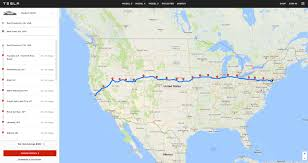 map usa route planner tesla launches a web based version of its in car trip planning