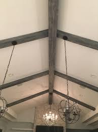 installing lights faux wood workshop