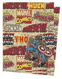 marvel wrapping paper marvel comics gift wrap 2 sheets of quality wrapping paper 2