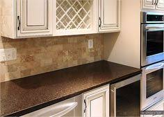 Brown Subway Tile Backsplash by Backsplash Durango Cream Travertine Tumbled Dark Grout Subway Tile