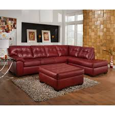Maroon Leather Sofa Simmons Soho Bonded Leather Sectional With Optional Ottoman