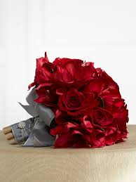 gray and red wedding great shade of gray wedding flower bouquet