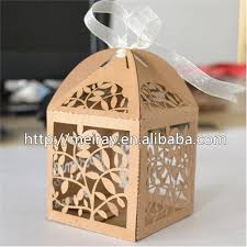 cookie box favors 100pcs laser cut kraft paper boxes cookie boxes packaging for gift