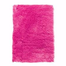 home decorators collection faux sheepskin pink 4 ft x 6 ft