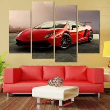 2017 new arrival promotion painting fallout 4 pcs sports car wall
