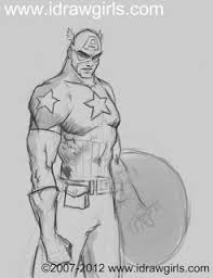 how to draw captain america 2