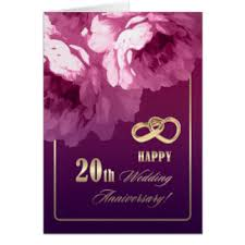 20 year wedding anniversary 20 year wedding anniversary cards invitations zazzle co uk