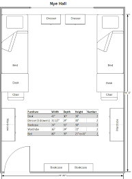 Standard Measurement Of House Plan by Nye Hall Housing University Of Nevada Reno