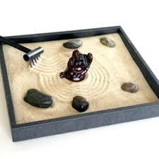 zen sand garden for desk zen garden accessories zen garden with statue decor tray figurine
