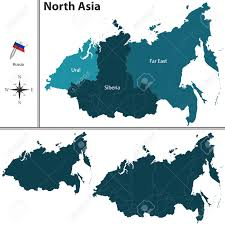 Political Map Of East Asia by Political Map Of North Asia Set With Flags On White Background