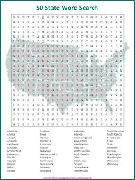 this fifty state word search will keep you and your students or