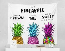 Paper Pineapple Decorations Pineapple Decor Etsy