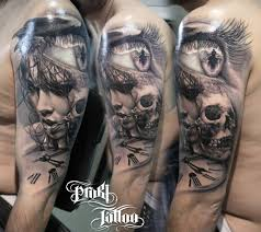 skull arm sleeve kostas baronis proki new skull tattoo more tattoo designs and
