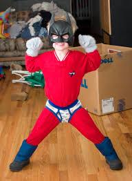 ha ha homemade super hero costume iz awesome love the underoos