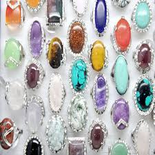 stone rings wholesale images Wholesale 10pcs lot women men large stone rings mix styles unisex jpg