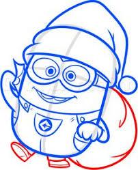 how to draw a christmas minion disney loveit pinterest