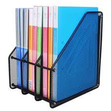 file holder for desk triple magazine rack file folders document organiser