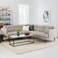 west elm arc l peggy mid century l shaped sectional west elm house and