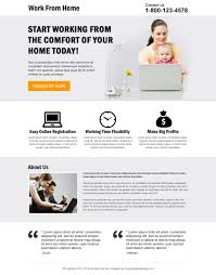 work from home minimal landing page 026 work from home landing