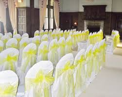 Yellow Chair Covers Chair Covers U0026 Sash Hire Venue Decoration Bridal Flowers Cake