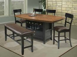 table with storage and chairs classic dining room with wine storage high top kitchen table sets