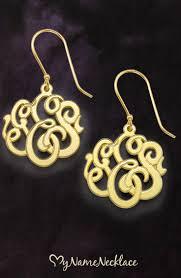 Gold Monogram Earrings 74 Best My Monogram Jewelry Images On Pinterest Monogram Jewelry