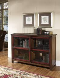 Solid Wood Bookcases With Glass Doors Fascinating Wooden Bookshelves With Glass Doors Pictures Ideas