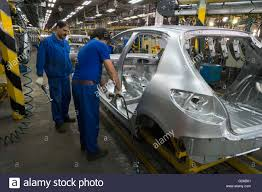 peugeot 206 2016 tehran iran 14th may 2016 car bodies are processed at the