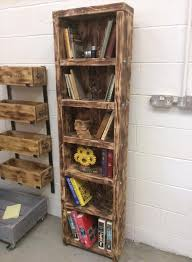 Pallet Bookcase Reclaimed Wooden Pallet Bookshelf Diy And Crafts