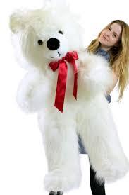 big teddy bears for valentines day american made white teddy 46 inch soft big plush