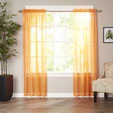 Burnt Orange Curtains Burnt Orange Sheer Curtains Wayfair
