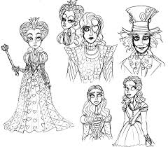 tim butons alice sketches by lily pily on deviantart