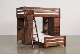 Bunk Beds And Desk Sedona Twin Twin Loft Bunk W Chest U0026 Desk Living Spaces