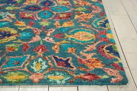 fedna hand tufted wool teal area rug u0026 reviews joss u0026 main