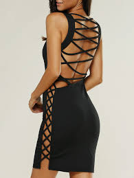 open back lace up tank dress click clothing shoes jewelry