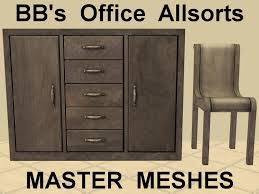 Masters Filing Cabinet Mod The Sims Bb U0027s Office Allsorts Recoloured