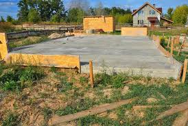 new home foundation new home foundation slab construction with reinforced concrete a