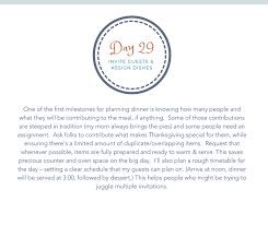 countdown 30 days to an organized thanksgiving