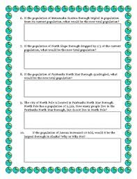 data analysis and math word problems on the population of alaska
