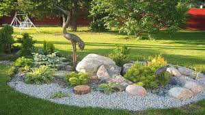 minimalist small rock landscaping for front yard design