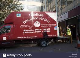 Furniture Recycling by Gloucester Furniture Recycling Project Van Outside City Centre