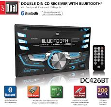 amazon com dual electronics dc426bt multimedia 3 7 inch double