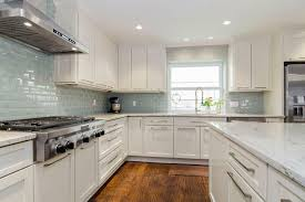 White Kitchen Cabinets With Gray Granite Countertops Stylish Black Stool Decorating Idea Backsplash Ideas With White