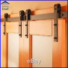 Barn Door Hangers Sliding Barn Door Hardware Double Doors Track Hangers Kit Classic