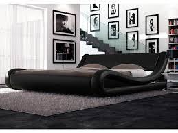 king size pu leather bed frame leonardo collection black bed