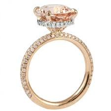 what is morganite lepozzi oval morganite two tone ring