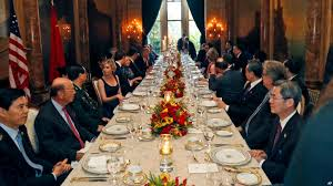 is trump at mar a lago trump hosts foreign dignitaries at his own private resort