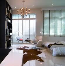 Studio Bedroom Apartments Bedroom Wonderful White Black Wood Glass Unique Design Small